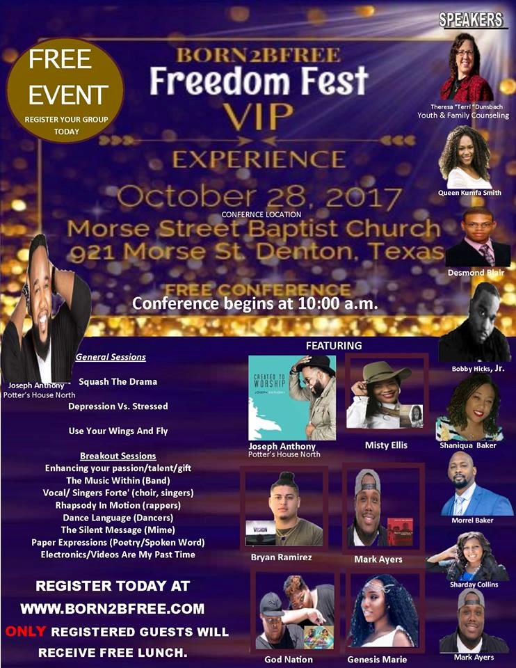 FREEDOM FEST 2017 REGISTRATION - Born2BFree